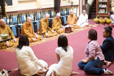 Monks at Bunja Thai